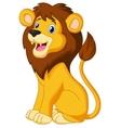 Lion cartoon sitting vector