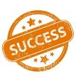 Success grunge icon vector