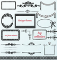 Vintage frames calligraphic collection borders vector