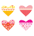 Valentines hearts vector