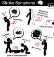 Stroke symptoms vector