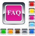 Faq square button vector
