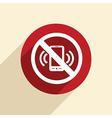 Forbidden to use mobile phone vector