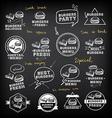 Burgers set of icons menu vector