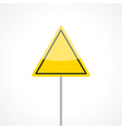 Yellow traffic sign vector