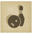Bowling old background vector