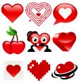 Heart designs vector