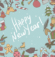 New year seamless border endless christmas vector