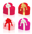 Heart shaped gift boxes vector