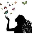 Butterfly girl vector