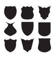 Shield silhouette vector