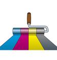 Paint roller cmyk vector