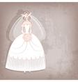 Bride on vintage background vector
