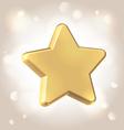 Golden metallic star prize vector