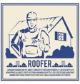 Roofer silhouette poster poster vector