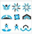 Set calligraphic design logo elements vector