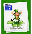 A poster showing st patricks day vector