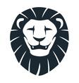Lion head insignia vector