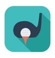 Golf flat single icon vector