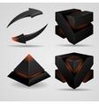 Geometric abstract futuristic gloomy gothic vector