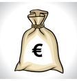 Money bag with euro sign vector