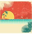 Vintage nature tropical seascape background vector