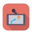 Gps navigator icon vector
