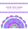 Vintage violet invitation card vector