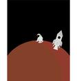Planet and astronaut scene vector