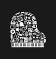 Piano art vector