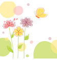 Nature background with flowers vector