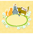 Frame with pets vector