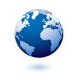 Blue icon earth gel vector