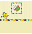 Background with bird parrot vector