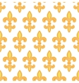 Golden lily seamless pattern background vector