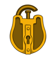 Antique golden lock vector