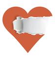Torn paper heart vector