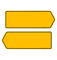 Directions yellow sign vector