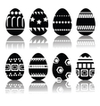 Silhouettes of easter eggs vector