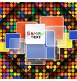 Colorful square element on stripes background vector