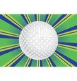 Golf ball background vector