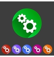Gear settings flat icon vector