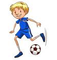 A soccer player vector