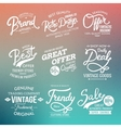 White fashion labels on abstract background vector