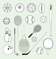 Sports balls and equipment vector
