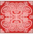 Ornamental floral paisley bandana vector