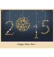 New year 2015 greeting card vector