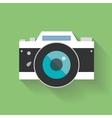 Retro camera flat icon vector