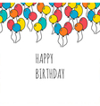 Holiday background with balloons happy birthday vector