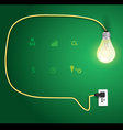 Speech bubble with light bulb idea concept vector